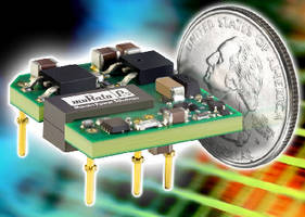 DC/DC Converters deliver 15 W from 1 sq in. of board area.