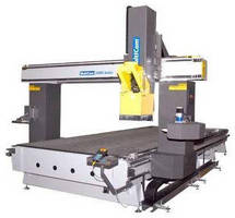 CNC Machining Center features large work envelope.