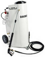 Wet Steam Pressure Washers maintain force through long hoses.