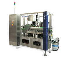 Bottle Labeler is rated from 4,000-8,000 containers/hr.