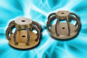 Circular Wire Rope Isolators feature low-profile design.