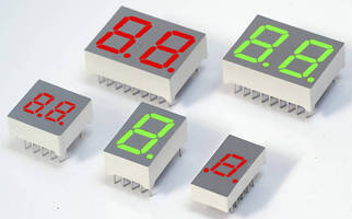 Numeric LED Displays suit high-temperature applications.