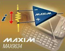Current-Sense Amplifier offers low power consumption.