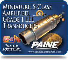 S-Class Pressure Transducers feature miniaturized design.