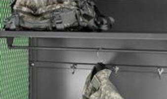 Military Storage Lockers offer 3-point locking.