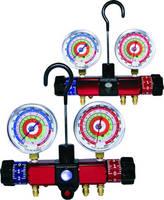 HVAC Manifold Pressure Gauges offer different sight glasses.