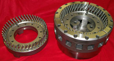 Workholding Chuck precisely grips helical gears.