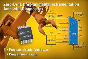 Instrumentation Amplifier includes on-chip diagnostics.