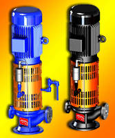 Vertical Inline Pumps feature air-cooled design.