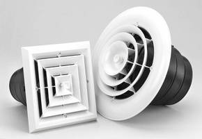 One-Piece Ceiling Diffuser is designed for quick installation.