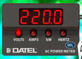 Four-Function AC Power Meters include frequency reading models.