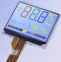 Color Alphanumeric Display uses chips-on-glass technology.