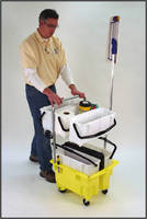 Cleaning Supply System incorporates up to 5 storage bins.