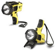 Handheld Spotlight produces high-intensity illumination.