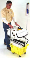 Microfiber Cleaning System features trolley framework.