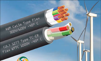 Wind Turbine Tray Cables perform in harsh environments.