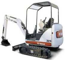 Compact Excavator has maximum dig depth of 8 ft 6 in.