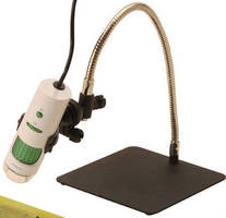 Microscope Stand supports any-angle viewing.