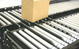 Roller Conveyor offers timing belt transfer accessory.
