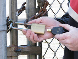 Electronic Lock System controls access to water facilities.