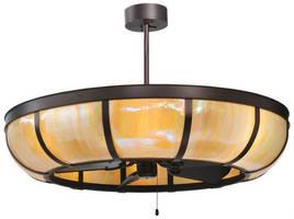Custom Lighting Fixture integrates ceiling fan technology.