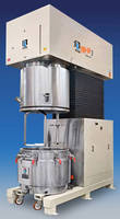 Daul Speed Sanitary Mixer features 100 gal capacity.