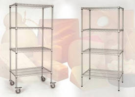 Hygienic Shelving suits cold room storage of food.