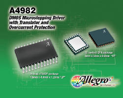 DMOS Microstepping Motor Drivers offer overcurrent protection. .