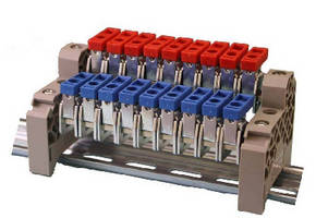 Electrical Busbar System features DIN rail mount design.
