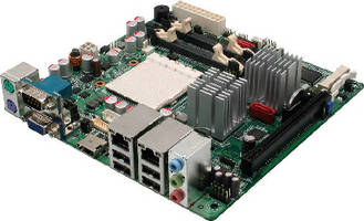 Mini-ITX Motherboard features up to 4 GB DDR2 memory.