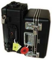 Looped Shackle Luggage Lock indicates inspection by TSA.