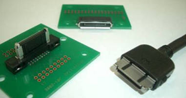 Rectangular I/O Cable Connector suits portable devices.