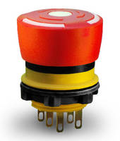 E-Stop Switches feature behind-panel depth of 18 mm max.