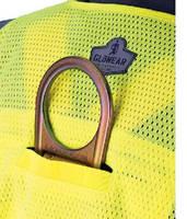Surveyor's Safety Vest includes D-ring access slot.