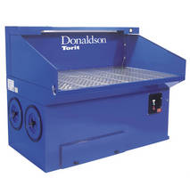 Downdraft Dust Collection Bench suits small parts grinding/finishing.