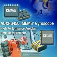MEMS Gyroscope senses angular rates up to ±300°/sec.