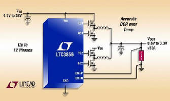 DC/DC Controller features differential remote sensing.