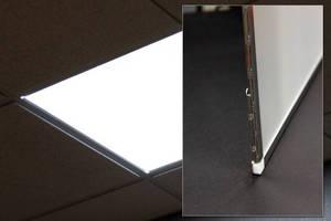 Slim, Lightweight Troffer Downlights utilize LED technology.