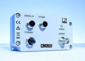 Digital Charge Amplifier features integrated Ethernet interface.