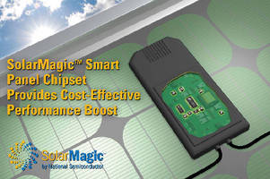 Power Management Chipset optimizes solar panel performance.