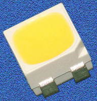 High-Brightness, White SMT LEDs suit backlighting applications.