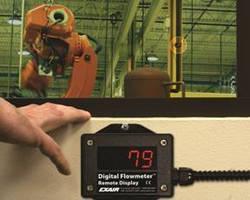 Digital Compressed Air Flowmeter offers summing remote display. .