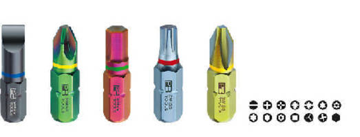 Tool Bits are color-coded by screw type and size.