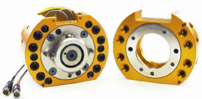 Tool Changer provides internal routing for hollow-wrist robots.