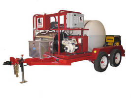 Oil Pipe Cleaning System is trailer-mounted for on-site use.