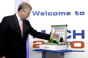 HRH The Duke of York Signals Opening of MACH2010 Using Renishaw Tool Setting System
