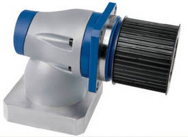 Right Angle Bevel Gearbox features integrated pulley drive.