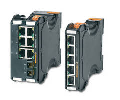Industrial Ethernet Switches offer extended temperature range.