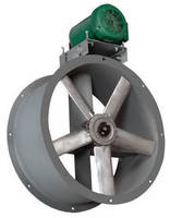 Belt-Driven, Tubeaxial Fan has performance-optimized design.