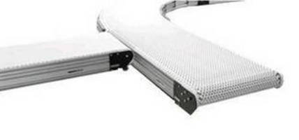 Modular Plastic Belt Conveyor has configurable design.